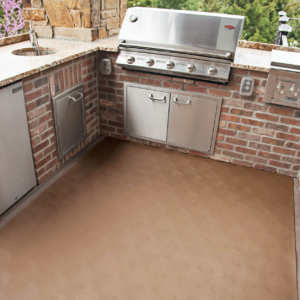 Levant Garage Mat used to protect outdoor deck - Sandstone