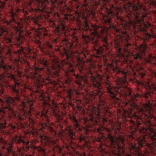 Closeup swatch view of Tri Grip XL large indoor floor matting in Cranberry