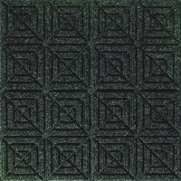 Aerial view of Waterhog Classic Carpet Tile floor mat in a Geometric surface pattern