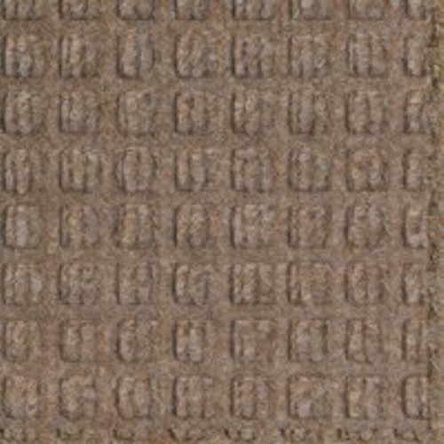 Close up swatch color for Medium Brown Waterhog Drainable Outdoor floor mats