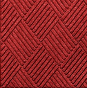 Swatch Color for Solid Red Waterhog Grand Classic carpet mat