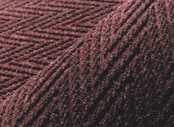 Close up view of Chevron floor mat