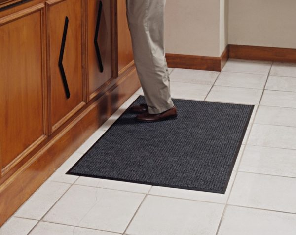 Dual Rib Floor mat used in front of counter on Hard Floors