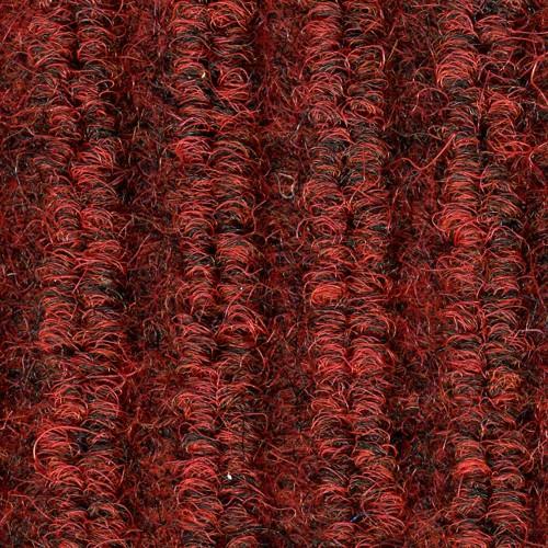 Close up view of ribbed pattern of Dual Rib entrance matting - Red Black