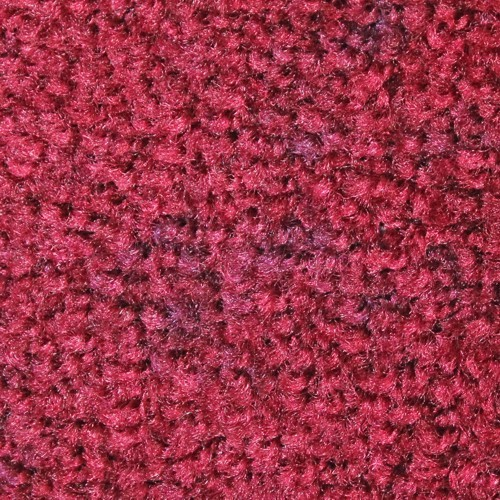 Close up view of Stylist Indoor floor matting nylon fibers in a Burgundy Berry