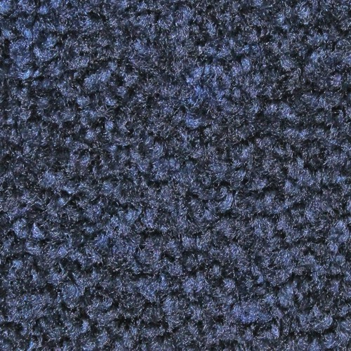 Close up view of Stylist Indoor floor mat nylon fibers in a Midnight Blue