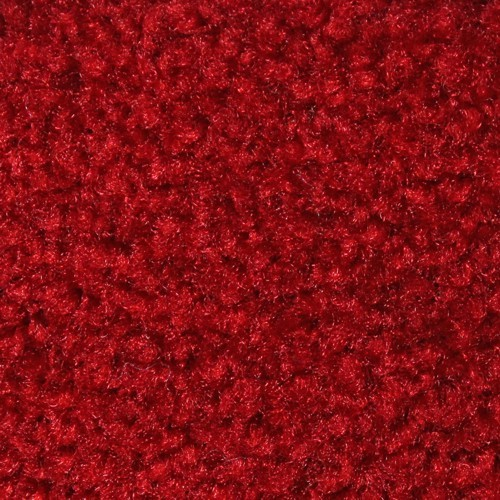 Close up view of Stylist Indoor floor matting nylon fibers in a Solid Red