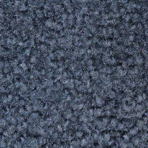 Close up view of Stylist Indoor floor matting nylon fibers in a Steel Blue