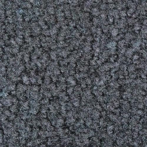 Close up view of Stylist Indoor floor mats nylon fibers in a Dark Granite