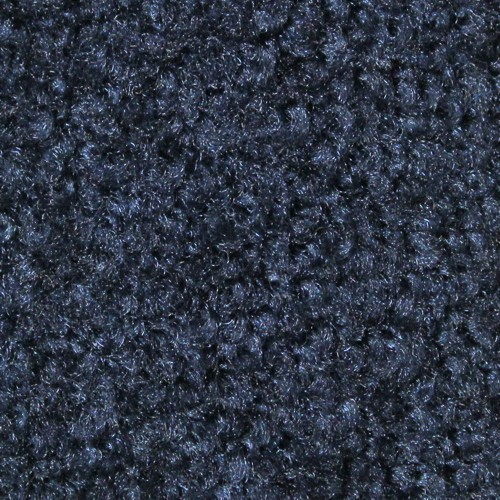 Close up view of Stylist Indoor floor mat nylon fibers in a Navy