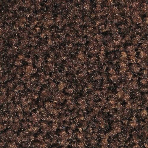 Close up view of Stylist Indoor floor mats nylon fibers in a Chocolate