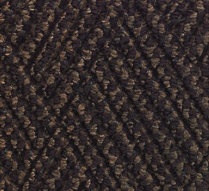 Close up color swatch for the Waterhog Diamondcord Indoor mat in a Brown