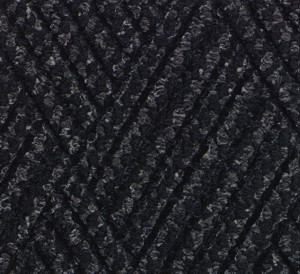 Close up color swatch for the Waterhog Diamondcord Indoor mat in a Charcoal