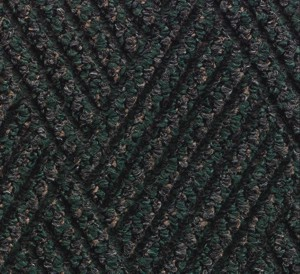 Close up color swatch for the Waterhog Diamondcord Indoor mat in a Green