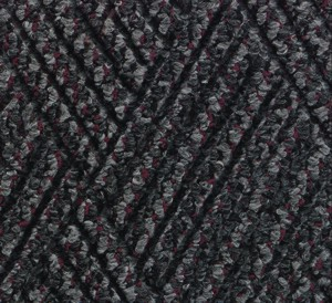 Close up color swatch for the Waterhog Diamondcord Indoor mat in a Grey