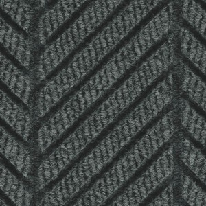 Close up surface pattern and color for Waterhog Eco Elite Roll Goods entry matting in Black Smoke