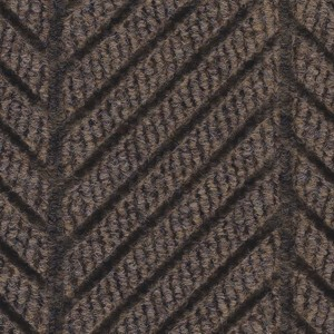 Close up surface pattern and color for Waterhog Eco Elite Roll Goods entry matting in Chestnut Brown