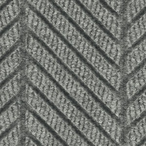 Close up surface pattern and color for Waterhog Eco Elite Roll Goods entry matting in Grey Ash
