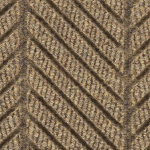 Close up surface pattern and color for Waterhog Eco Elite Roll Goods entry matting in Khaki