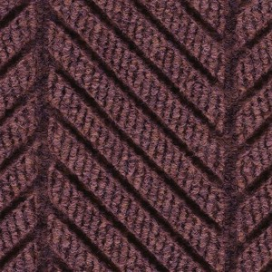 Close up surface pattern and color for Waterhog Eco Elite Roll Goods entry matting in Maroon