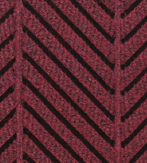 Close Up view of Waterhog Eco Elite Roll Goods carpet matting in Regal Red Color