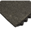 Corner view of 24-7 Solid Nitrile Modular fatigue matting with Gritshield