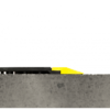 Side View of 24-7 Solid Nitrile Rubber Interlocking anti -fatigue matting with grit shield and yellow beveled edge profile