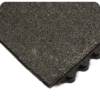 Close up view of 24-7 Solid Nitrile Industrial Anti-Fatigue Modular matting with Gritshield and interlock detail