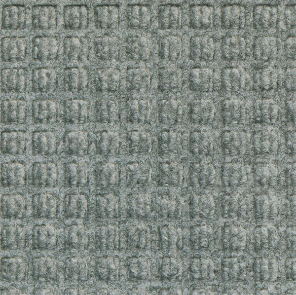 Close up view of Medium Grey Waterhog Classic entrance mat showing waffle surface pattern of the entry mat