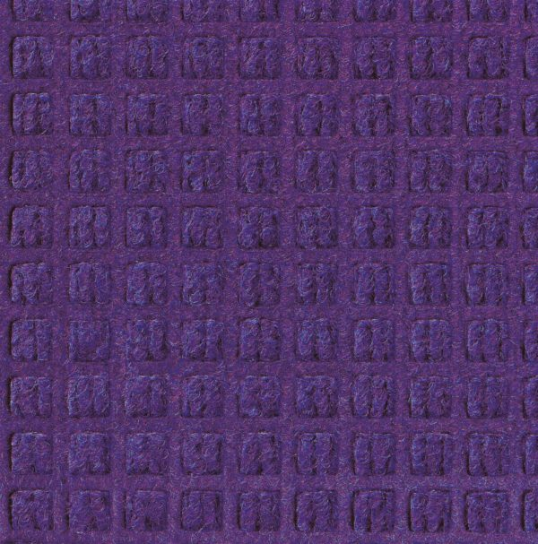 Close up view of Purple Waterhog Classic entrance mat showing waffle surface pattern of the door mat