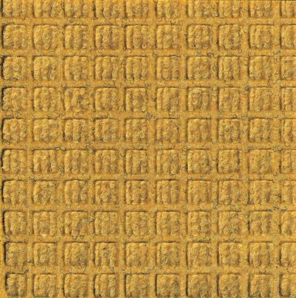 Close up view of a Yellow Waterhog Classic floor mat showing waffle surface pattern of the door mat