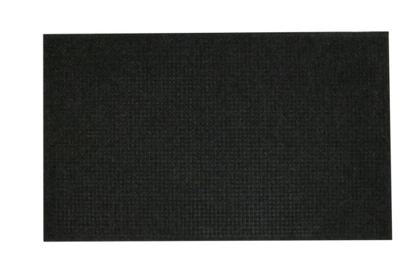Aerial View of Waterhog Classic floor mat in a charcoal color and fashion edge border