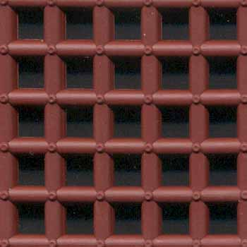 Comfort Tile Shower Mats - Brick Red