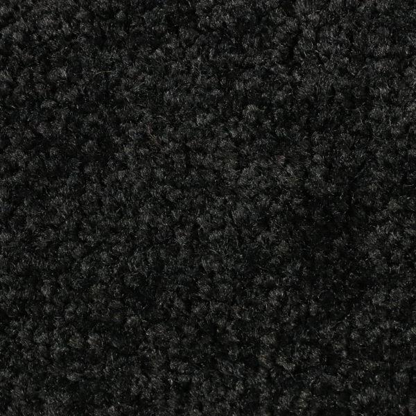 Close up view of Tri Grip indoor entrance floor mat - Solid Black