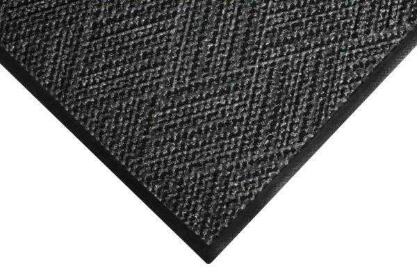 Corner View of Waterhog Diamondcord Entrance Mat with Standard Rubber Edging