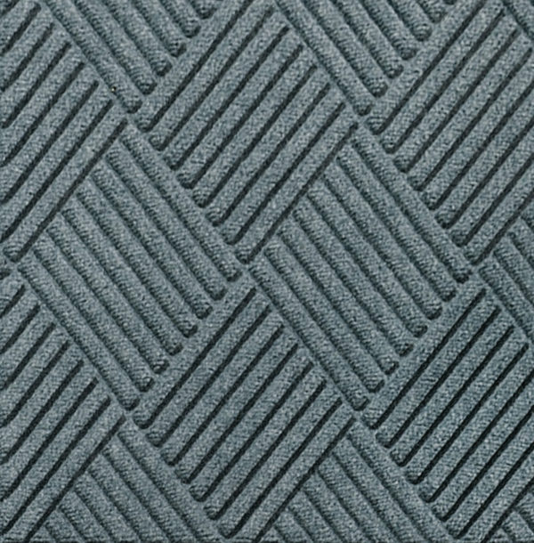 Close up view of Waterhog Classic Diamond entrance floor mat in the color Bluestone