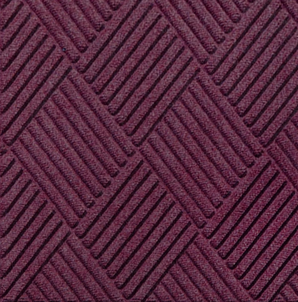 Close up view of Waterhog Classic Diamond entrance floor mat in the color Bordeaux