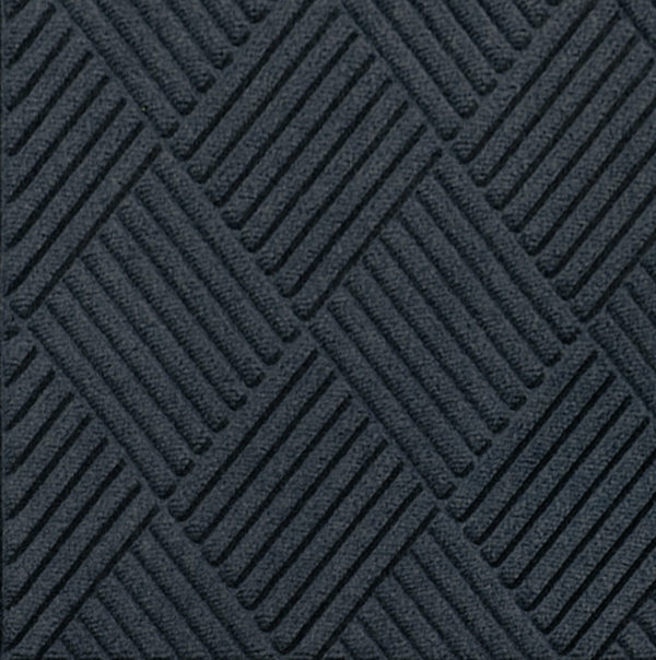 Close up view of Waterhog Classic Diamond entrance floor mat in the color Charcoal