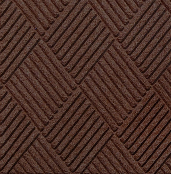 Close up view of Waterhog Classic Diamond entrance floor mat in the color Dark Brown