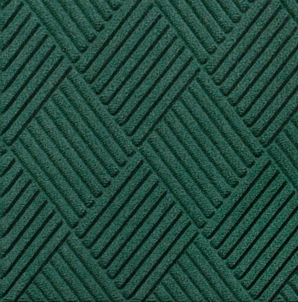 Close up view of Waterhog Classic Diamond entrance floor mat in the color Evergren