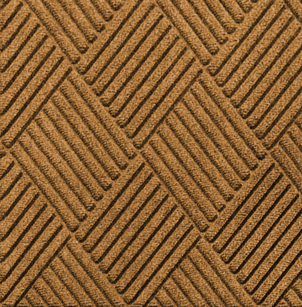 Close up view of Waterhog Classic Diamond entrance matting in the color Gold