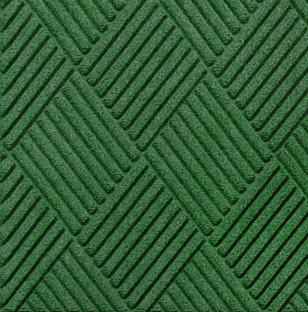 Close up view of Waterhog Classic Diamond entrance matting in the color Light Green