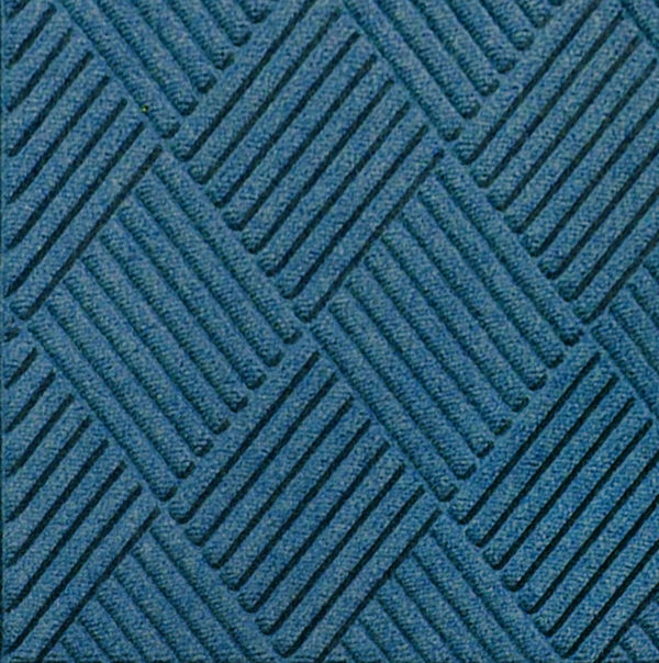 Close up view of Waterhog Classic Diamond entrance matting in the color Medium Blue
