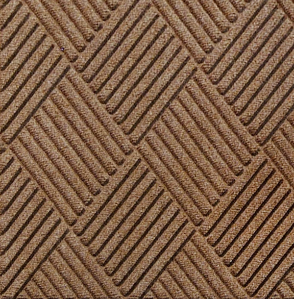Close up view of Waterhog Classic Diamond entrance matting in the color Medium Brown