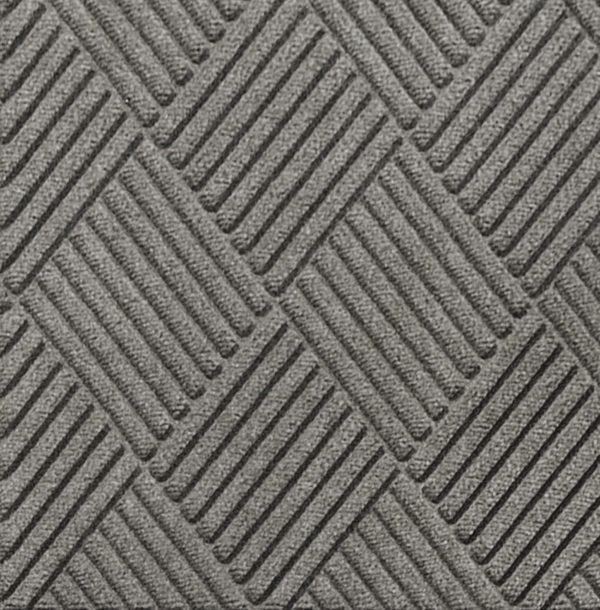 Close up view of Waterhog Classic Diamond entrance matting in the color Medium Gray