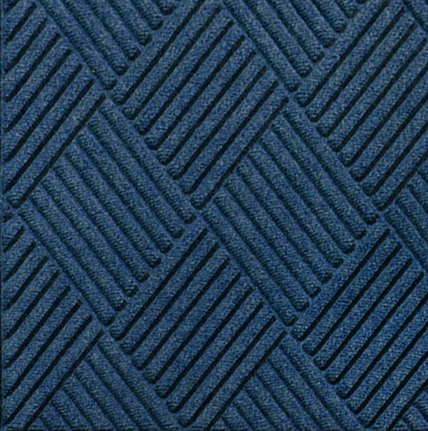 Close up view of Waterhog Classic Diamond entrance mat in the color Navy