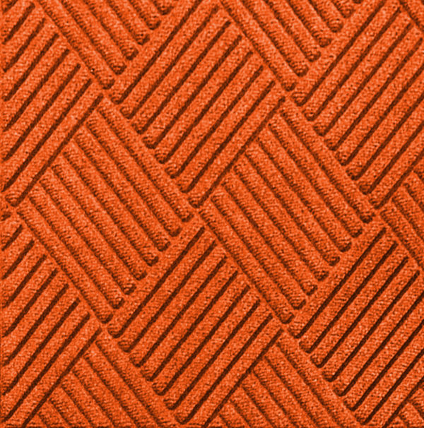 Close up view of Waterhog Classic Diamond entrance mat in the color Orange