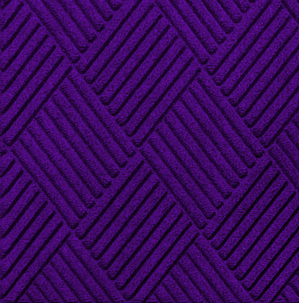 Close up view of Waterhog Classic Diamond entrance mat in the color Purple