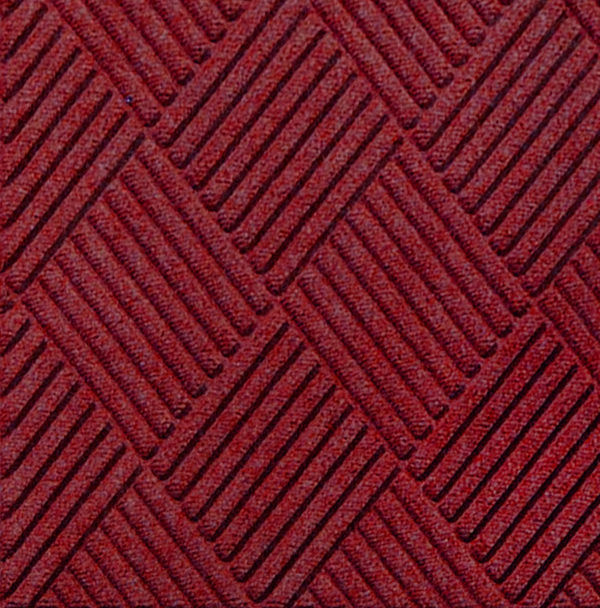 Close up view of Waterhog Classic Diamond entrance mat in the color Red/Black