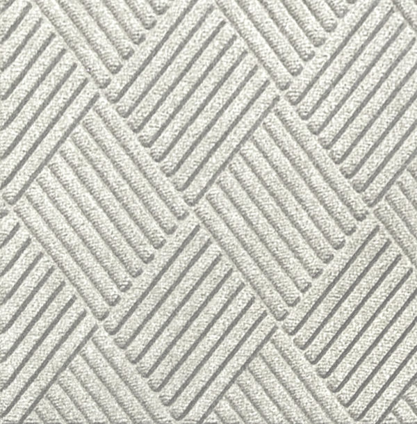 Close up view of Waterhog Classic Diamond floor mats in the color White
